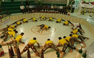 مراسم فرهنگ پهلوانی در زورخانه شهید شعبانی  اسدآباد برگزار شد