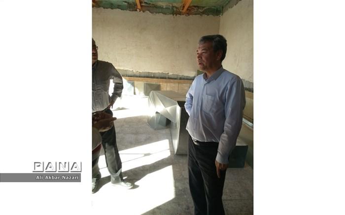بازدید سرزده مدیرکل نوسازی وتجهیز مدارس از پروژه های نیمه تمام مه ولات