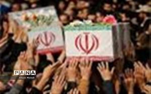 مراسم استقبال از شهدای شیراز در فرودگاه دستغیب