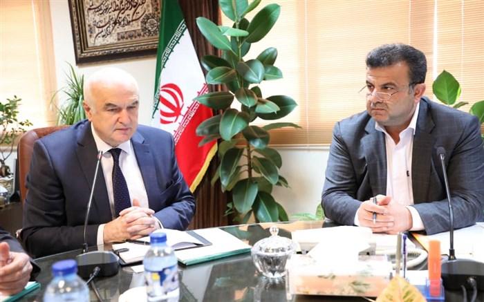 دیدار استاندار مازندران با ماینده جمهوری داغستان در سفارت روسیه در ایران