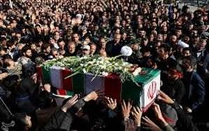 آیین تشییع هشت شهید مطهر گمنام در ایلام برگزار شد