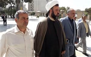 دیدار شهردار منطقه بیست با تولیت و اعضای هیئت امنای امامزاده عبدالله(ع) شهرری