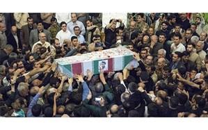 تشییع و خاکسپاری پیکر مطهر شهید مدافع حرم علی آقایی