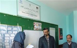 پوشش 340 نفری پناهندگان افغان در کلاس های سواد آموزی استان