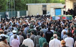 پیکر پاک شهید دوران دفاع مقدس در بوشهر تشییع شد