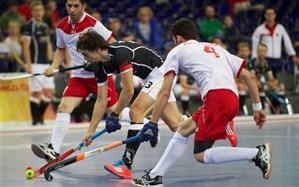 تمرین تیم ملی هاکی در سالن ورزشی خانه هاکی ورزقان
