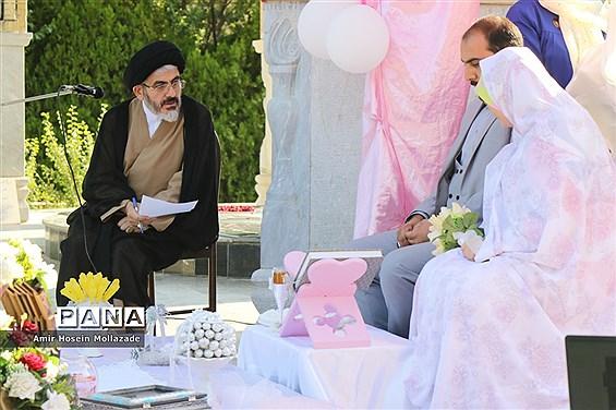 مراسم عقد زوج دانشجو در مزار شهدای گمنام