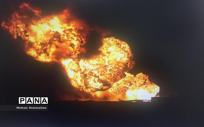 انفجار خط لوله نفت امیدیه -اهواز