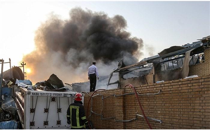 آتش سوزی در شکوهیه قم