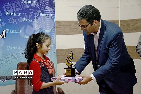 حضور  زهرا بیرامی(دختر ژله ای ) در دفتر خبرگزاری پانا آذربایجان شرقی