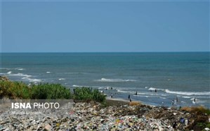 شنا با شیرابه زباله در ساحل خزر!