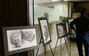 بر پایی نمایشگاه هنری مبارزه با قاچاق کالا در شهرری