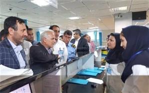 نظارت اعضای هیات رییسه دانشگاه علوم پزشکی شیراز بر روند ارایه خدمت در بیمارستان حضرت ولیعصر(عج) ممسنی