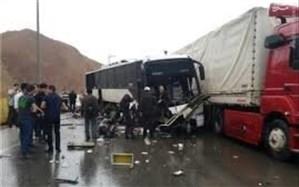 برخورد اتوبوس با تریلی یک کشته و ۲۵ مصدوم برجای گذاشت+اسامی