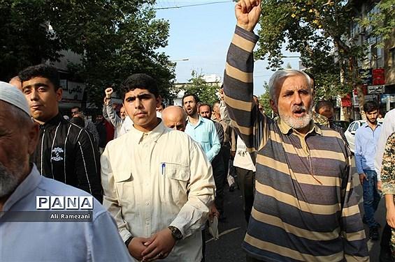 راهپیمایی هفته عفاف و حجاب در قائمشهر