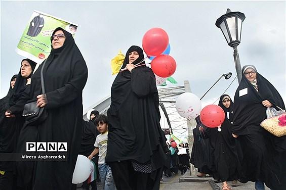 راهپیمایی هفته عفاف و حجاب در بابلسر
