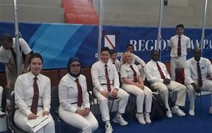 قضاوت بانوی ایرانی در مسابقات تکواندو + تصویر