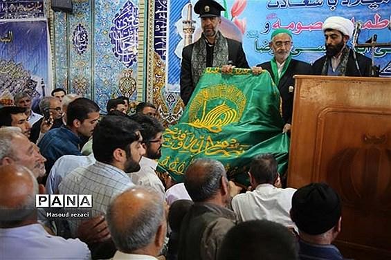 استقبال مردم شهرستان میانه از خادمان و حاملان پرچم متبرک رضوی