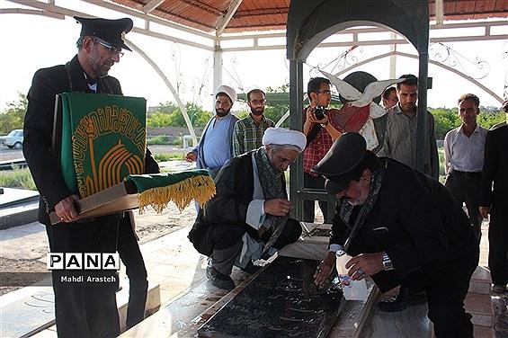 ورود کاروان زیرسایه خورشید به شهرستان دیارگلهای نرگس استان خراسان جنوبی