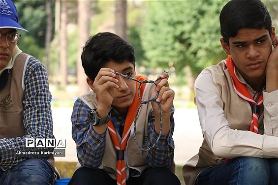 ایستگاههای مهارتهای آموزشی در اولین روز از اردوی استانی پیشتازان فارس