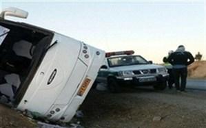 ۱۷ مصدوم بر اثر واژگونی اتوبوس در محور شیراز-بندرعباس