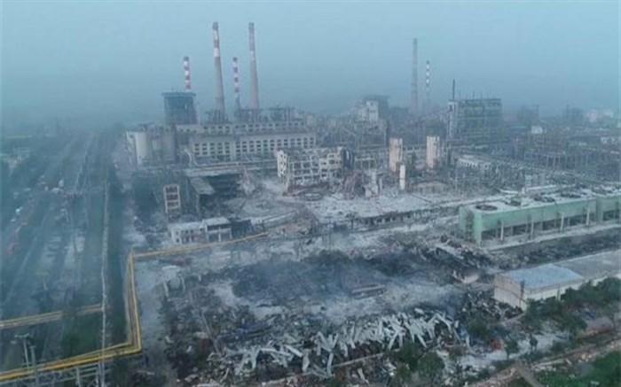 تصاویر هوایی از میزان تخریب انفجار مهیب کارخانه گاز در چین