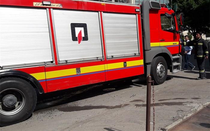 آتش سوزی دانشگاه آزاد تبریز