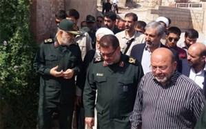 بازدید فرمانده کل سپاه از مناطق زلزلهزده مسجدسلیمان