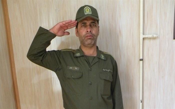 مسنترین سرباز ناجا با ۴۳ سال در زنجان