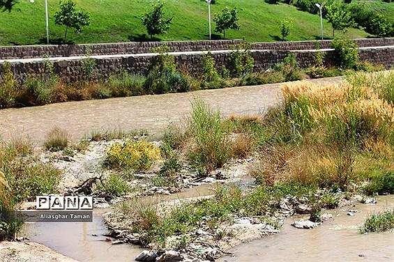 وضعیت بستر رودخانه شهرچای ارومیه