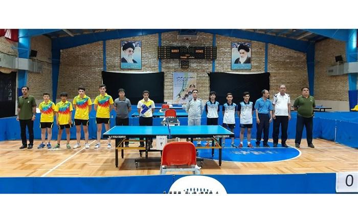 تیم تنیس روی میز استان مرکزی