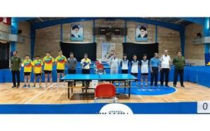 نائب قهرمانی نماینده استان مرکزی در رقابت های تنیس روی میز دانش آموزان پسر کشور