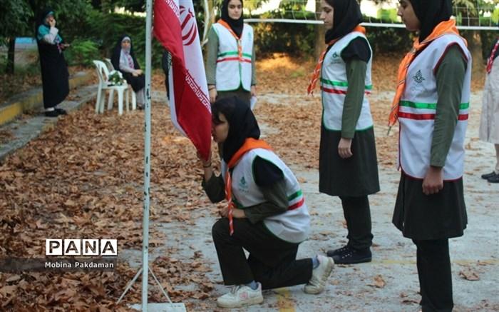 صبحگاه پیش اردوی پیشتازان دختر سازمان دانشآموزی مازندران