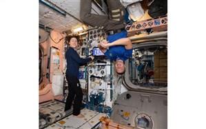 تصویری جالب از شرایط متفاوت فضانوردان ایستگاه فضایی بینالمللی