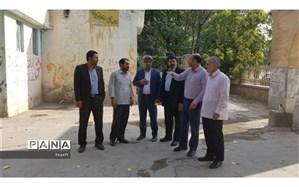 بازدید اعضای شورای شهر چناران از ابنیه و قبور دوطبقه بهشت زینب (س)