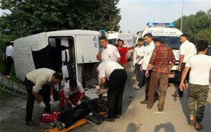 تصادف مینیبوس دانشآموزان در اردکان ۲ کشته و ۱۰ مصدوم برجا گذاشت
