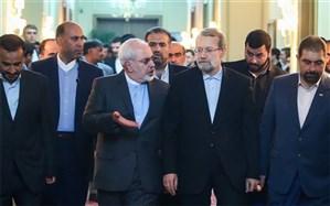لاریجانی خطاب به ظریف: شما نماد ورزیدگی و سختکوشی دیپلماسی ایران هستید