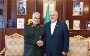 سردار سلیمانی: دفاع از منافع ملی و صداقت در بیان از خصوصیات ویژه ظریف است