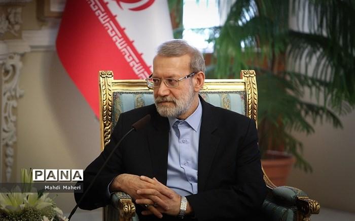 دیدار وزیر امورخارجه عمان با علی لاریجانی