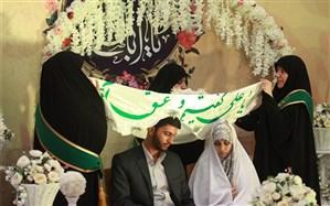 آیین جشن ازدواج ۱۵۰ زوج پاسدار در قم برگزار شد