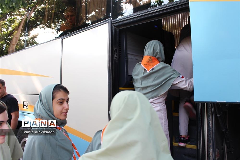 اعزام پیشتازان دختر استان کردستان به نهمین دوره  اردوی ملی