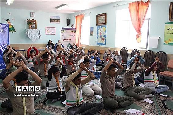 کلاس آموزشی پیرامید پیشتازان پسر اعزامی به نهمین دوره اردوی ملی