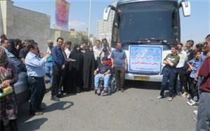 اعزام دانش آموزان با نیازهای ویژه به مسابقات کشوری قرآن و ورزشی