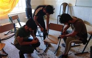 نوسازی میز ونیمکت های مدارس شهرستان امیدیه