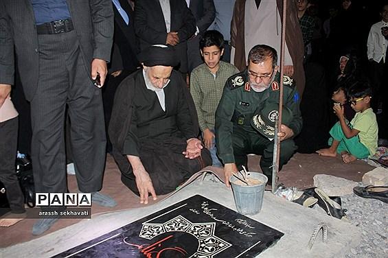 مراسم چهلم تشییع شهدای گمنام  در روستای چهکند