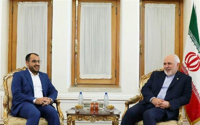ظریف وسخنگوی انصارلله یمن