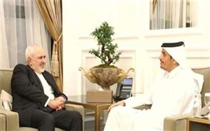 ظریف با همتای قطری خود دیدار کرد