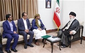 دیدار سخنگوی جنبش انصارالله یمن وهیئت همراه با رهبر معظم انقلاب