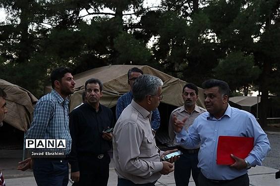 بازدید از فضای اردوگاه  شهید رجایی نیشابور جهت برگزاری اردوی ملی پیشتازان پسر