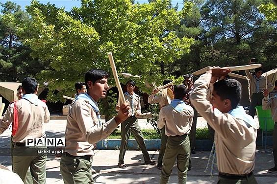پذیرش و استقرار دانشآموزان پیشتاز پسر در نهمین دوره اردوی ملی پیشتازان